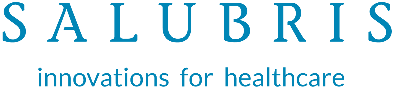 Salubris lettering logo - innovations for healthcare - Identiteit Too Many Words | Infographics & identiteit te Utrecht