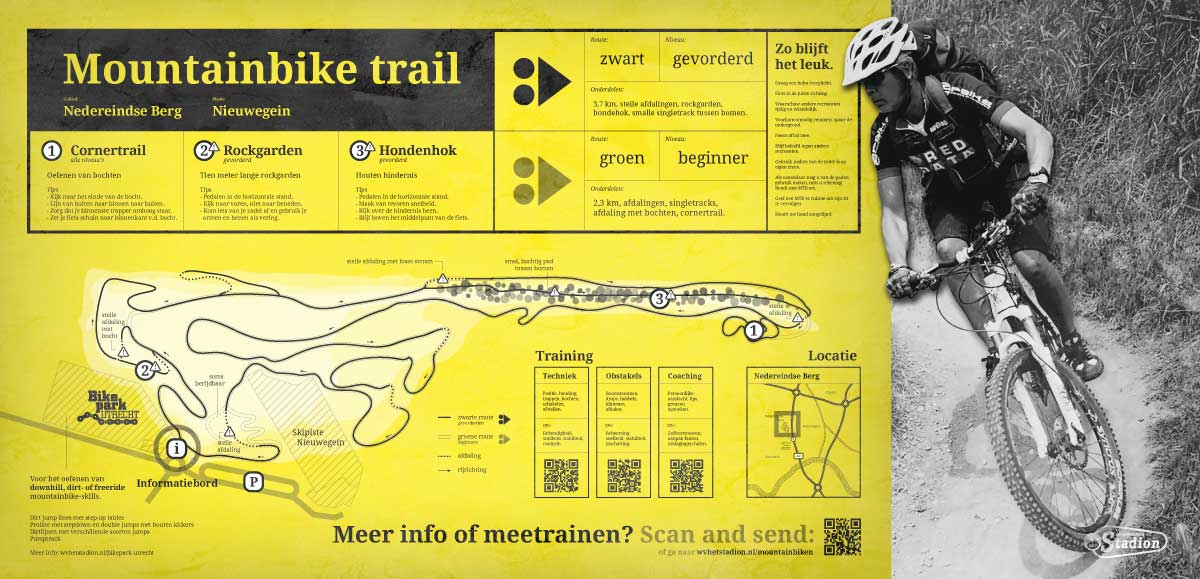Mountainbike route - poster Too Many Words | Infographics & identiteit te Utrecht
